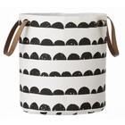 Ferm Living Laundry basket half moon, black / white, 35x40cm