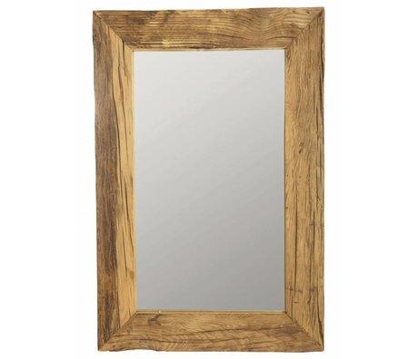 Housedoctor Spejl ramme med genbrugstræ, brun, 60x90 cm