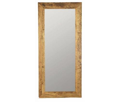 Housedoctor Miroir faite de bois recyclé, brun, 95x210cm