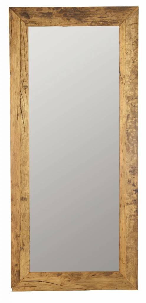 Spiegel Aus Recyceltem Holz Braun 95x210cm Lefliving De