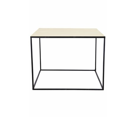 Housedoctor Coffee table made of metal, black / copper, 60x60x45cm
