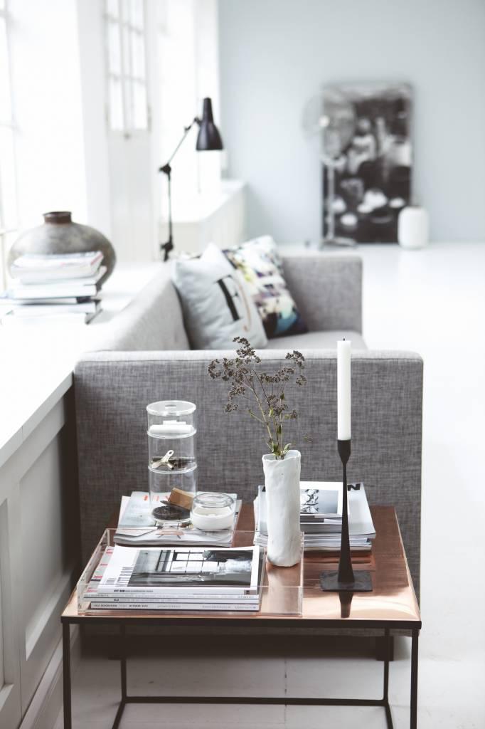 En MétalNoir Cuivre60x60x45cm Housedoctor Table Basse 8n0wmN