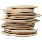 HK-living Holzteller, braun, Ø 24-30cm