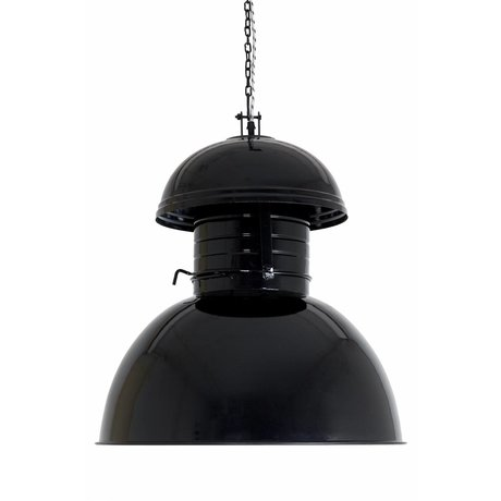 "HK-living Industrial hanging lamp ""Warehouse"" Huge, black, metal, Ø56cm"