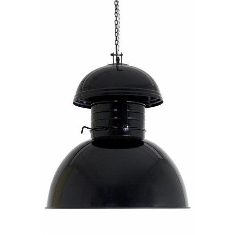 "HK-living Industrial lámpara colgante ""Almacén"" enorme, negro, metal, Ø56cm"