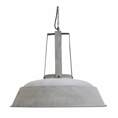 "HK-living Industrial hanging lamp ""workshop"" XL, matt gray, metal, Ø74cm"
