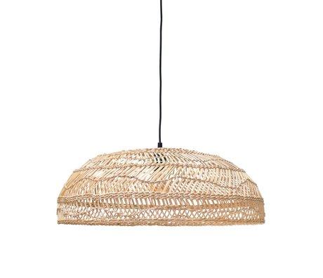 HK-living Hand-woven hanging lamp, beige, reeds, 60x60x20cm