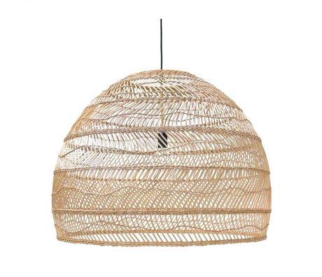 HK-living Hængende lampe håndvævet beige Ried 80x80x60cm