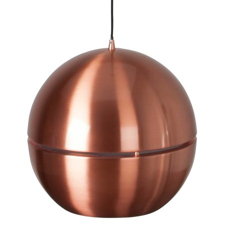 Zuiver Hanging lamp 'Retro 70' copper metal Ø40x37cm