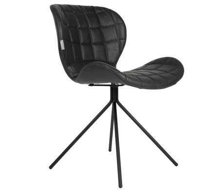 Zuiver Dining chair OMG LL black leatherette 51x56x80cm