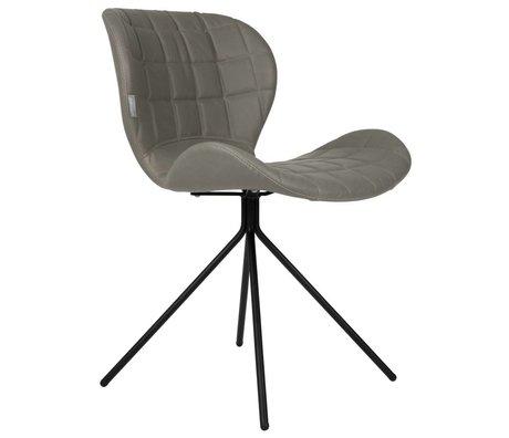 Zuiver Salle à manger chaise OMG LL similicuir gris 51x56x80cm