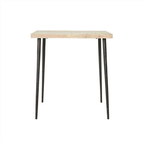Housedoctor Dømt tabel Mango Træ Metal 76x70x70cm