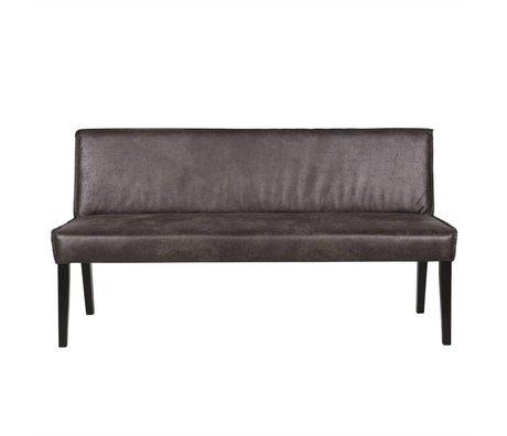 BePureHome Bank Rodeo 83x156x61cm en cuir noir