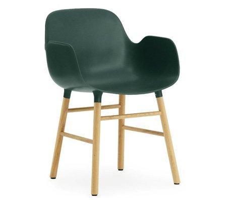 Normann Copenhagen Armchair shape green plastic oak 79,8x56x52cm