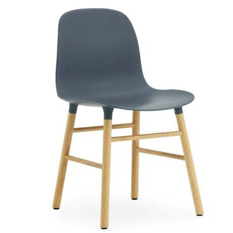Normann Copenhagen Chair mold plastic blue oak 78x48x52cm