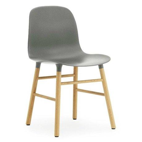 Normann Copenhagen Chair mold plastic gray oak 78x48x52cm