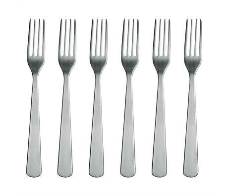 Normann Copenhagen Fork Normann Bestik i rustfrit stål sæt med 6 gafler