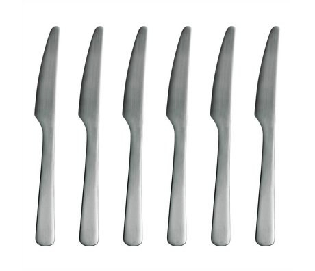 Normann Copenhagen Tafelmesser Normann Cutlery aus rostfreiem Stahl, Set mit 6 Messern