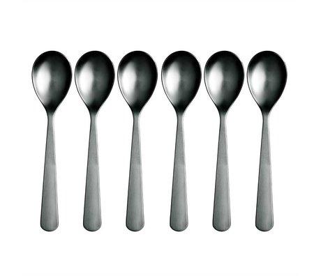 Normann Copenhagen Spoon Normann Cutlery stainless steel set of 6 spoons