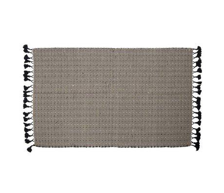 Zuiver Carpet Ziggy black cotton 120x180cm