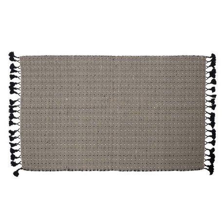 Zuiver Tapis Ziggy coton 120x180cm noir