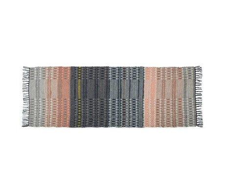 Zuiver Alfombra salmón multicolor de lana de 80x200cm