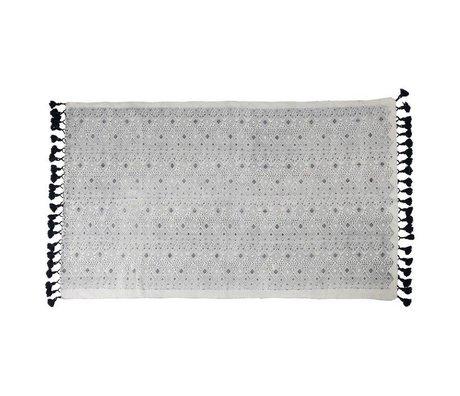 Zuiver Alfombra gráfico 120X180cm de algodón negro
