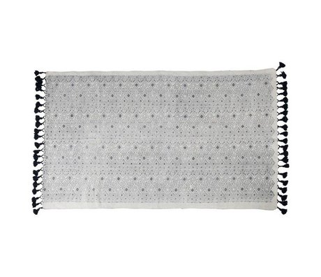 Zuiver Tapis graphique coton 120x180cm noir