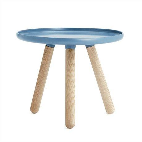 Normann Copenhagen Tableau Tablo plastique bleu Ø50cm de bois de frêne