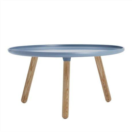 Normann Copenhagen Tisch Tablo in blau aus Eschenholz und Kunststoff ø78cm