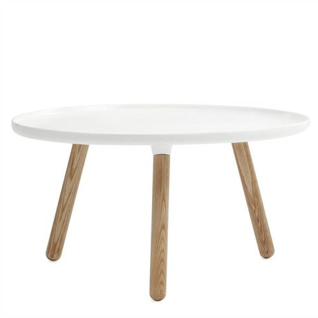 Normann Copenhagen Tableau Tablo plastique blanc cendres ø78cm