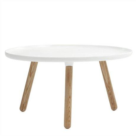 Normann Copenhagen Tisch Tablo in weiß Eschenholz und Kunststoff ø78cm