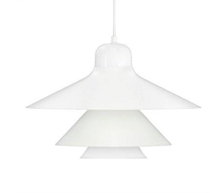Normann Copenhagen Hængende lampe Ikono hvid coated stål glas Ø45cm