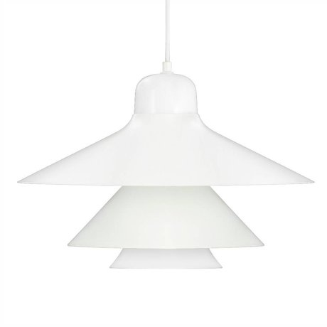 Normann Copenhagen Hanging lamp Ikono white coated steel glass Ø45cm