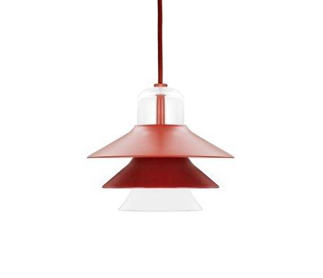 Normann Copenhagen Hængende lampe Ikono rødt belagt stål glas Ø20cm