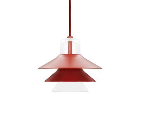 Normann Copenhagen Hanging lamp Ikono red coated steel glass Ø20cm