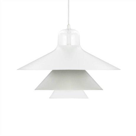 Normann Copenhagen Hængende lampe Ikono grå stål glas Ø45cm