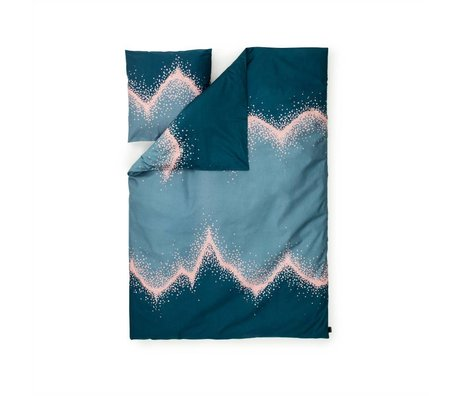 Normann Copenhagen Bedcover Drys blå 140x200cm bomuld