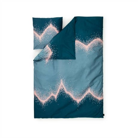 Normann Copenhagen Bedcover Sprinkle blue 140x200cm cotton