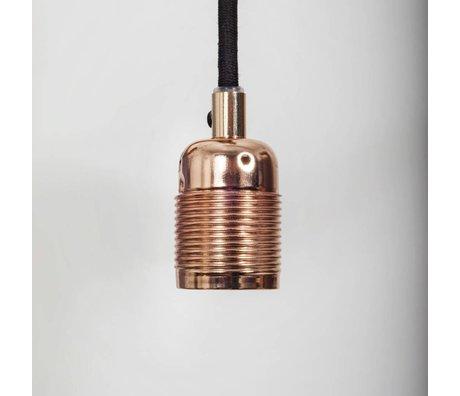 Frama Shop Electra cadena con la versión E27 cobre Ø4x7,2cm de metal negro