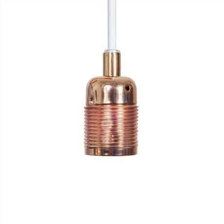 Frama Shop String Electra med version E27 kobber hvid metal Ø4x7,2cm