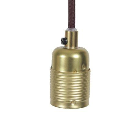 Frama Shop String Electra con la versione e27Gold ottone bordeaux metallo Ø4x7,2cm