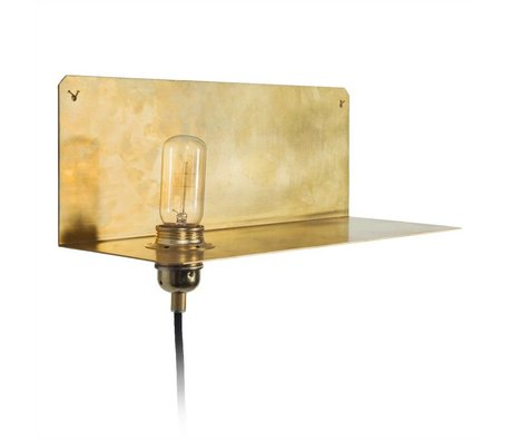Frama Shop Lampada da parete a parete 90 ° Oro Ottone Ottone 15x40x15cm