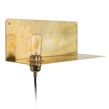 Frama Shop Lampe 90 ° Wall Brass Gold Messing 15x40x15cm
