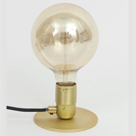 Frama Shop Lámpara de mesa con E27 Oro Latón Ø12x7,2cm