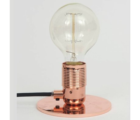 Frama Shop Lampe de table avec E27 Cuivre Laiton Ø12x7,2cm