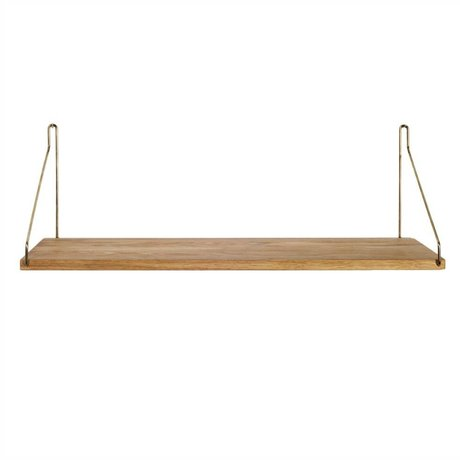 Frama Shop Bookshelf Gold Brass brass oak 60x20cm