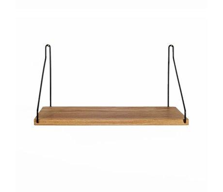 Frama Shop Bookshelf chêne 40x20cm en acier noir