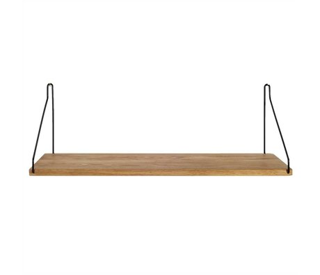 Frama Shop Boghylde sort stål eg 60x20cm