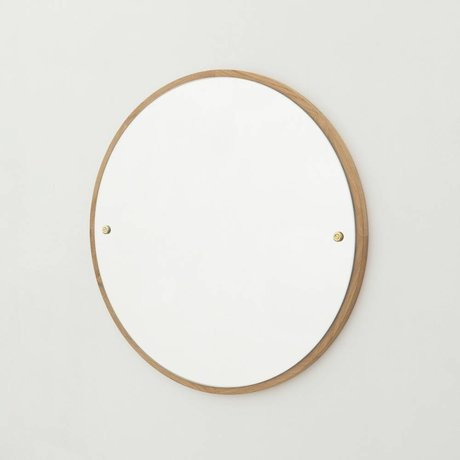 Frama Shop Miroir CM chêne brun bois Ø40cm